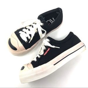 Roxy Vintage Black Canvas Platform Sneakers